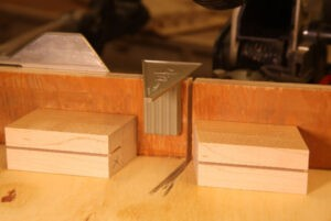 make your own dovetail saw guide blocks - miter saw