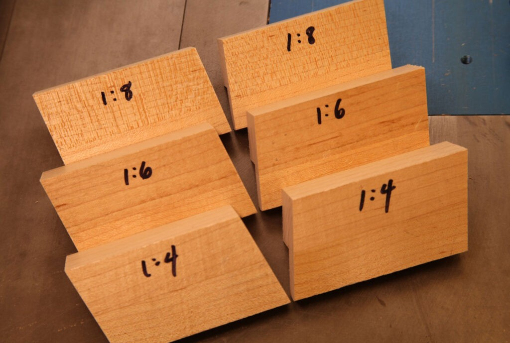 make your own dovetail saw guide blocks - completed set