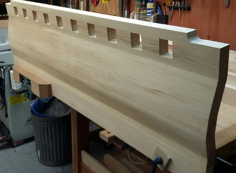 Custom headboard for the new bed frame